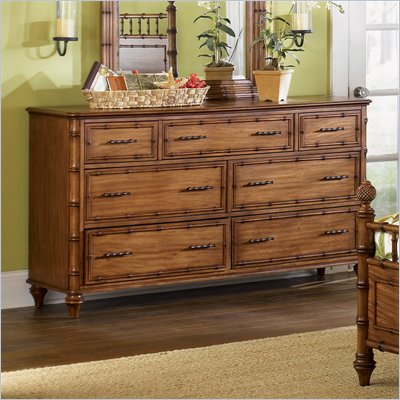 Magnussen Palm Bay 7 Drawer Double Dresser in Toffee Finish