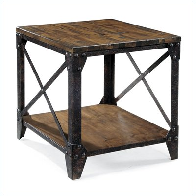 Magnussen Pinebrook Wood Rectangular End Table