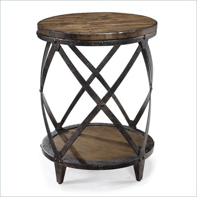 Magnussen Pinebrook Wood Round Accent Table