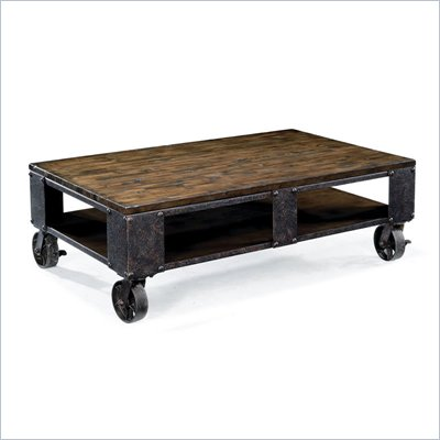 Magnussen Pinebrook Wood Rectangular Cocktail Table