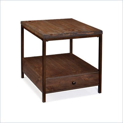 Magnussen Pinecrest Wood Rectangular Accent End Table 