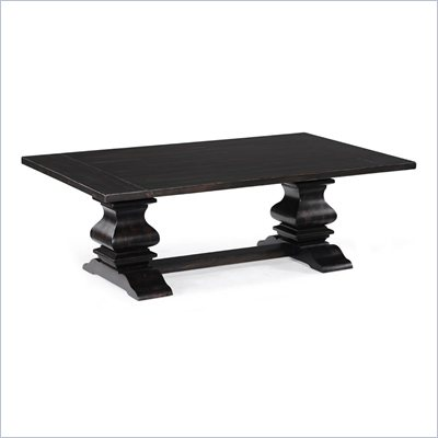 Magnussen Rossington Wood Rectangular Cocktail Table in Ebony