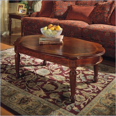 Magnussen Sedona Oval Cocktail Table and End Table Set in Cherry