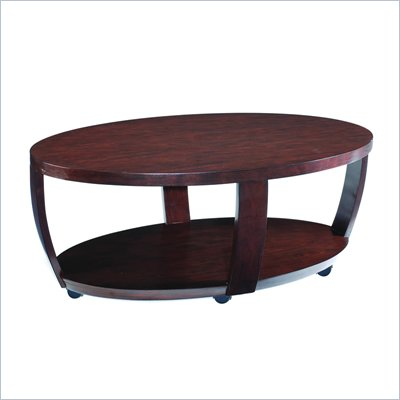 Magnussen Sotto Wood Oval Cocktail Table