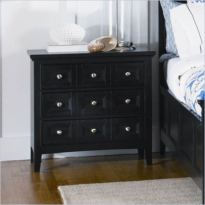 Magnussen Southampton 3 Drawer Nightstand in Black Finish