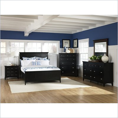 Magnussen Southampton Panel Bed 6 Piece Bedroom Set in Black Finish
