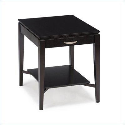 Magnussen Studio 1 Wood Rectangular End Table in Espresso