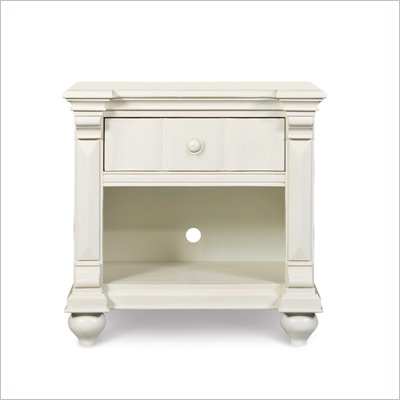 Magnussen Summerhill Wood Open Nightstand in Antique White Finish