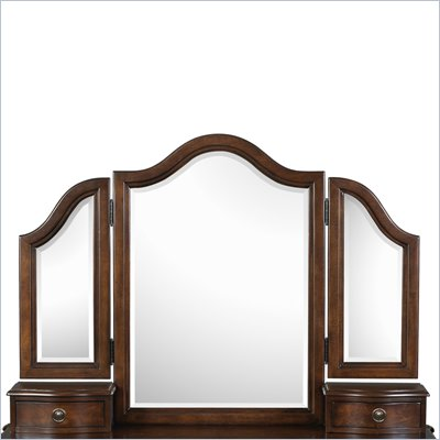 Magnussen Taylor Wood Vanity Tri-Fold Mirror in Espresso Finish