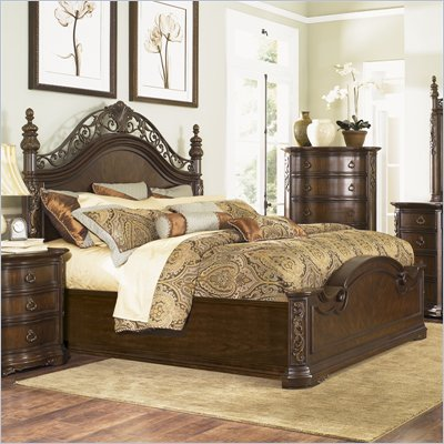 Magnussen Villa Corina Panel Bed in Hazelnut Finish