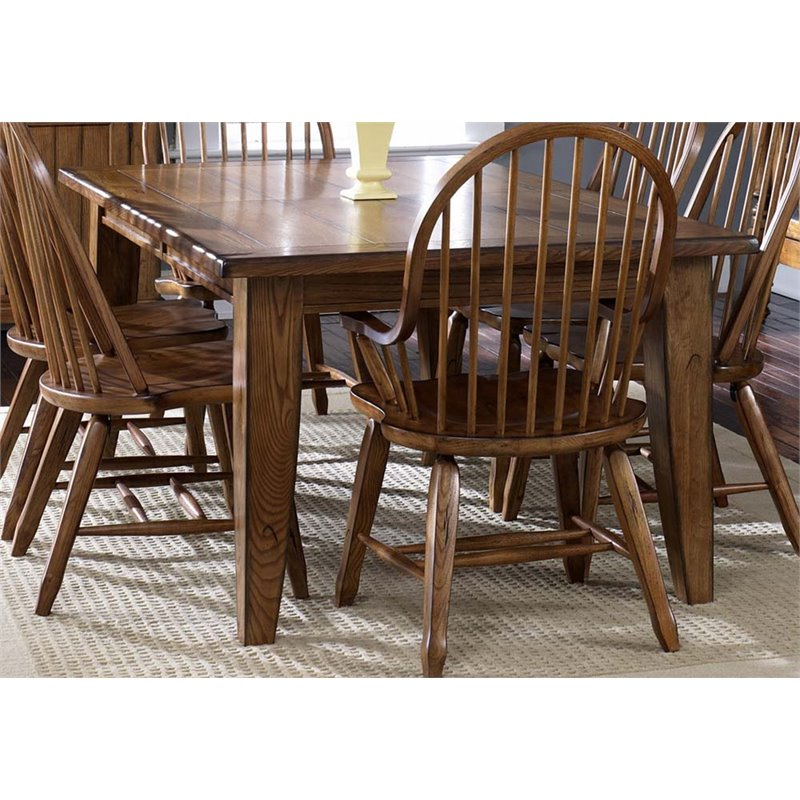 Liberty Furniture Treasures 44 x 108 Dining Table in Rustic Oak