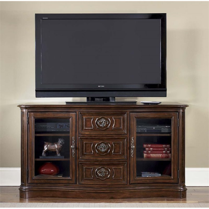 Liberty Furniture Andalusia TV Stand in Vintage Cherry