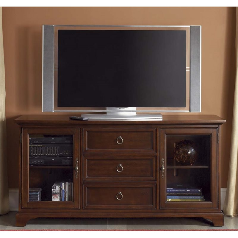 Liberty Furniture Beacon 64 TV Stand in Cherry
