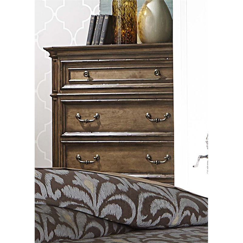 Liberty Furniture Amelia 5 Drawer Chest in Antique Toffee