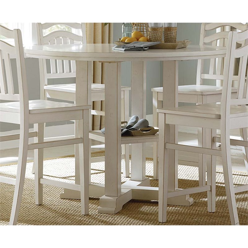 Liberty Furniture Summerhill Counter Height Dining Table in White