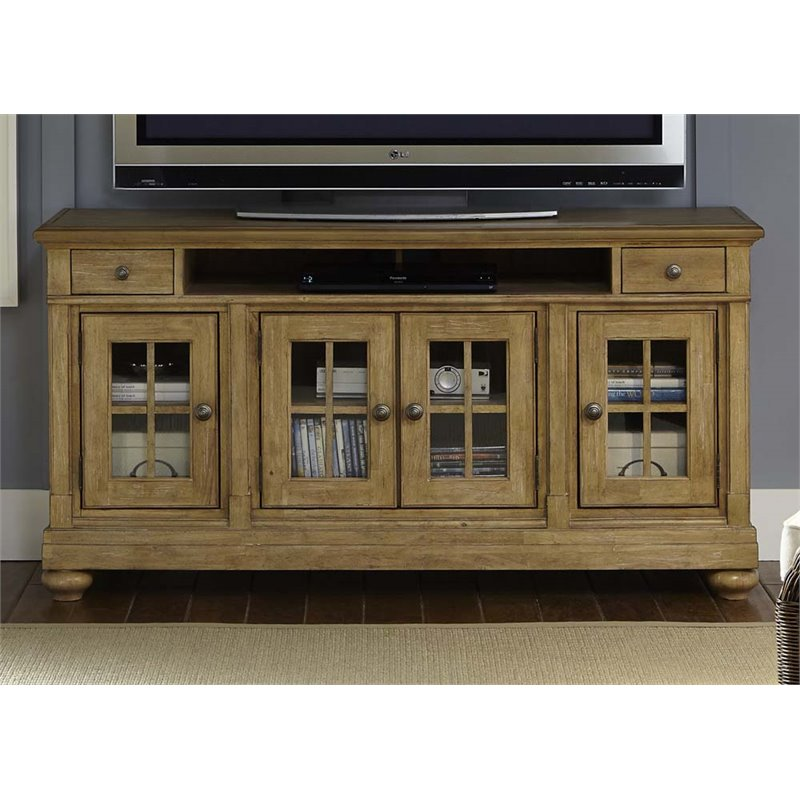 Liberty Furniture Harbor View 62 TV Stand in Sand