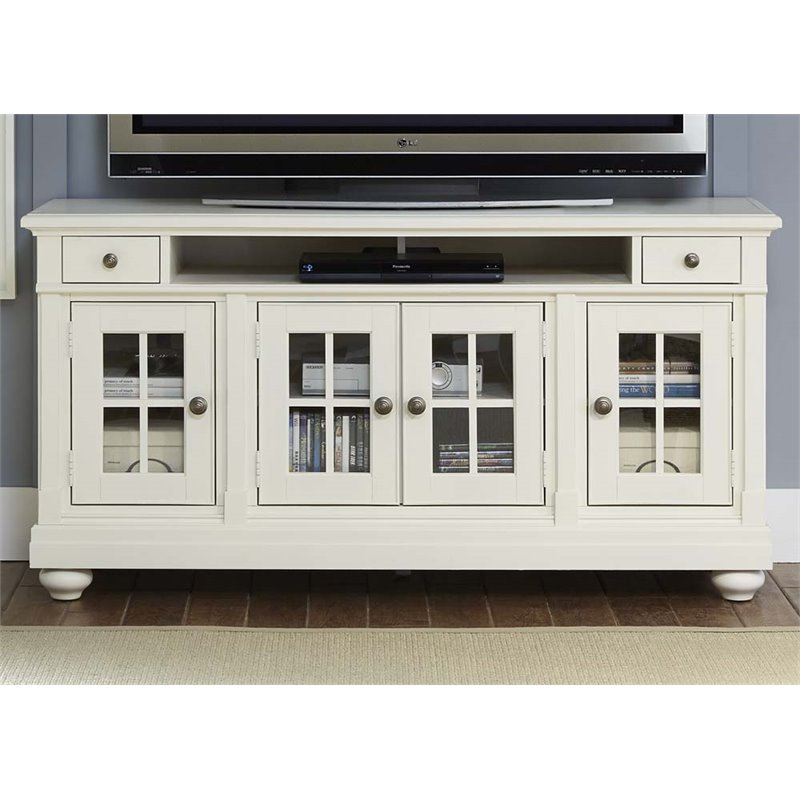 Liberty Furniture Harbor View 62 TV Stand in Linen