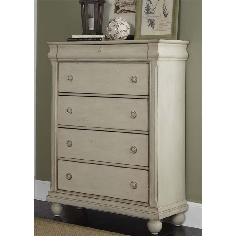 Liberty Furniture Rustic Traditions II 5 Drawer Chest in Rustic White