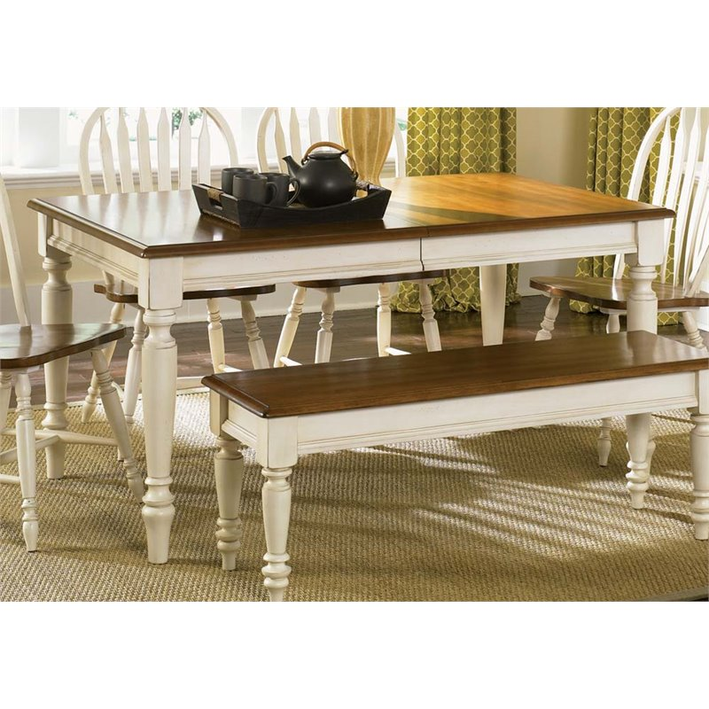 Liberty Furniture Low Country Dining Table in Linen Sand
