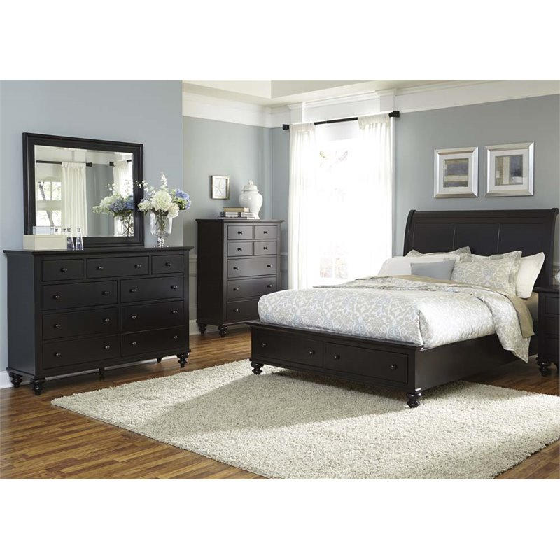 Liberty Furniture Hamilton III 4 Piece Queen Storage Bedroom Set