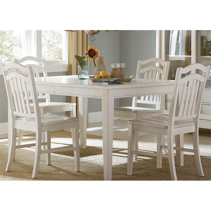 Liberty Furniture Summerhill 5 Piece Dining Set in Rubbed Linen White