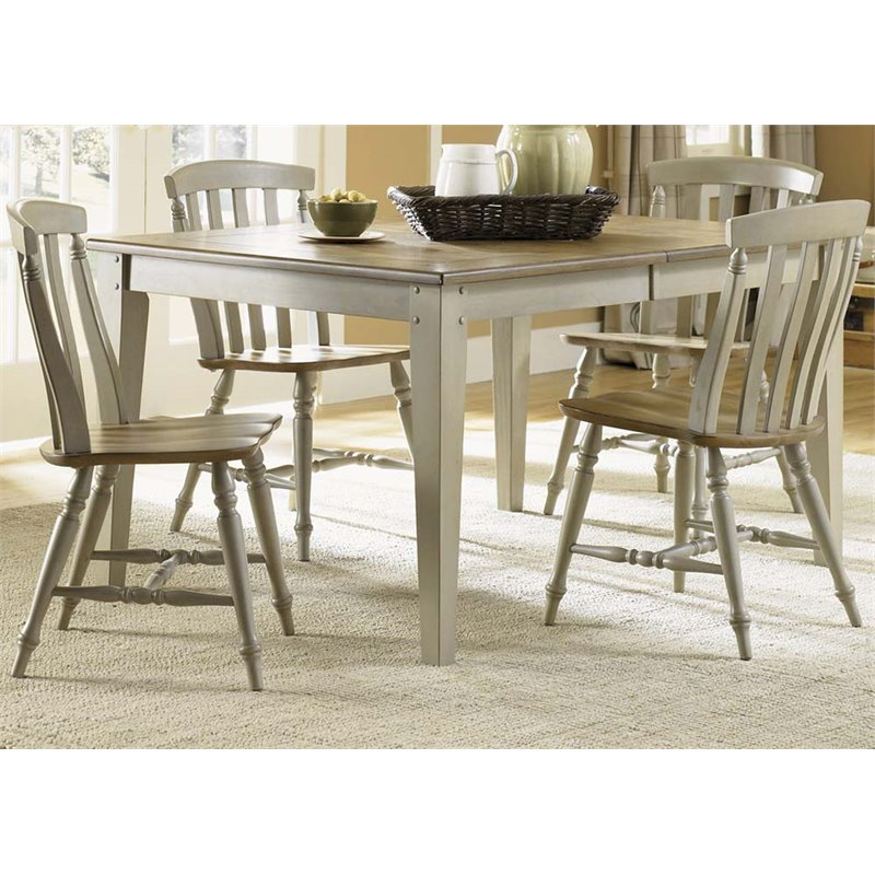 Liberty Furniture Al Fresco 5 Piece Dining Set in Driftwood and Taupe