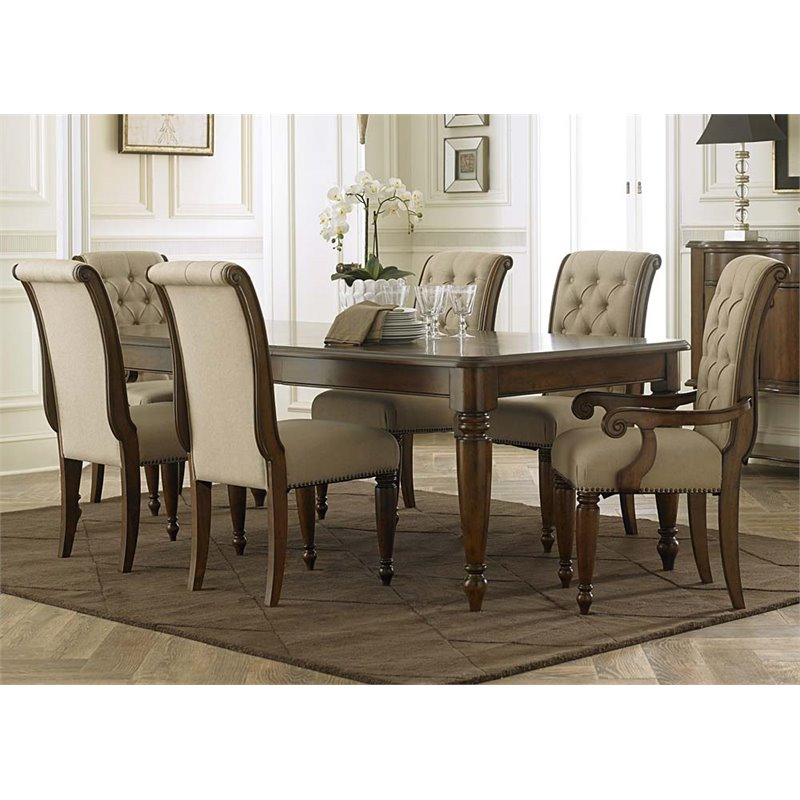 Liberty Furniture Cotswold 7 Piece Dining Set in Cinnamon