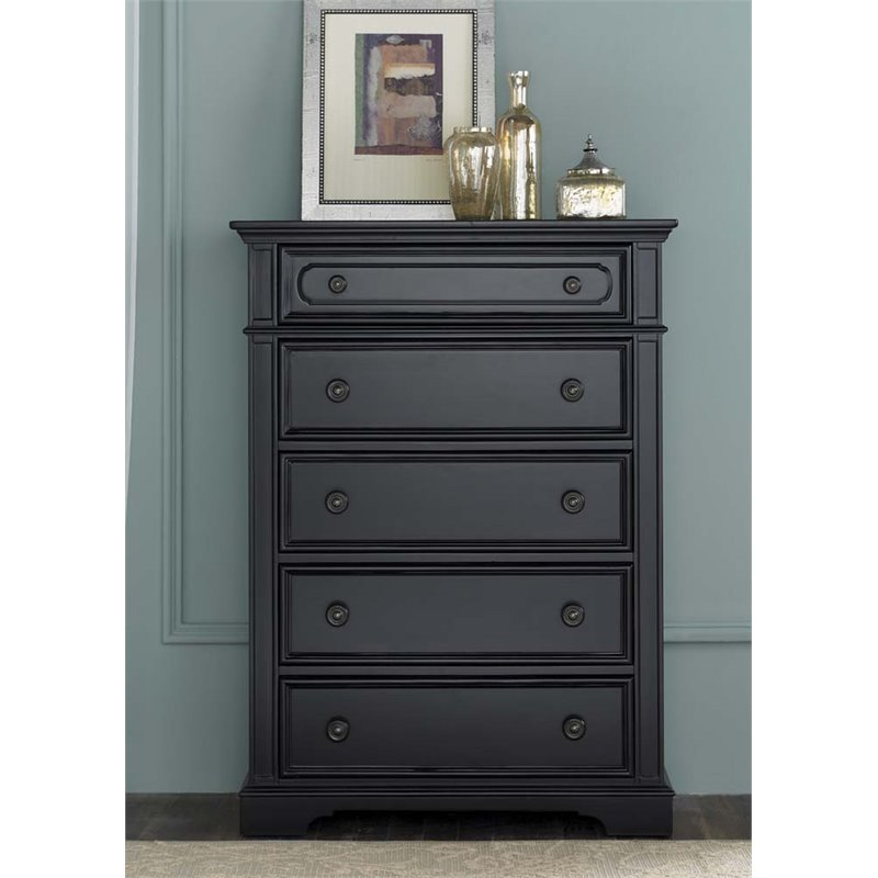 Liberty Furniture Carrington II 5 Drawer Chest in Black
