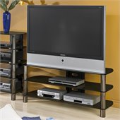Techcraft BEL501B TV Stand with Brilliant Black Silkscreen Glass