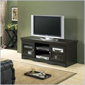 Tech-Craft Veneto 60 Distressed Black Wood LCD/Plasma TV Stand