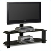 Tech-Craft Solution Black Glass Plasma/LCD TV Stand with Mount