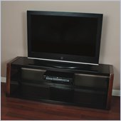 Tech-Craft Monaco Series 60 Inch Wide Plasma/LCD TV Stand in Walnut Finish 