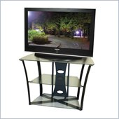Tech-Craft Bernini Series 38 Inch Wide Hi-Boy TV Stand in Walnut Finish