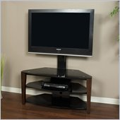 Tech-Craft Veneto Series 42 Inch Wide Plasma/LCD TV Stand with Mount in Walnut