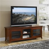 Tech-Craft Veneto Series 62 Inch TV Stand Credenza in Walnut Finish