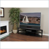"Tech Craft 72"" Wide Corner TV Stand in Black"