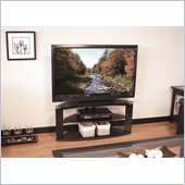 "Tech Craft 42"" Wide Corner TV Stand in Black"