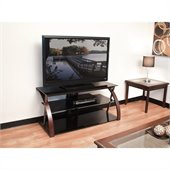 "Tech Craft 48"" Wide TV Stand in Black"