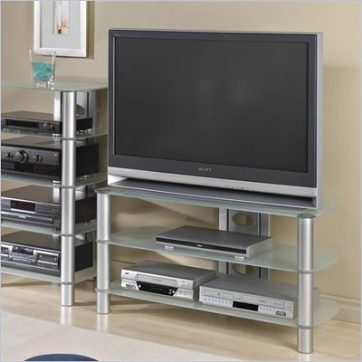 Tech-Craft Black Metal TV Stand