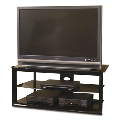 Tech-Craft Bernini 48&quot; Black Metal LCD/Plasma TV Stand