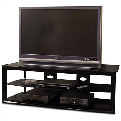 Tech-Craft Bernini Series Black 60&quot; Metal Frame LCD/Plasma TV Stand