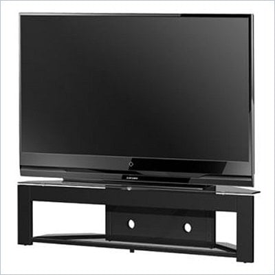Tech-Craft MD73 LCD/Plasma Glass TV Stand in Black Finish
