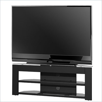 Tech-Craft Monaco 51 Inch Glass TV Stand in Black