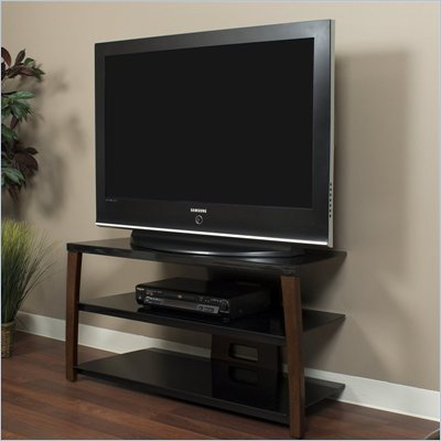 Tech-Craft Monaco Series 42 Inch Wide Plasma/LCD TV Stand in Walnut Finish