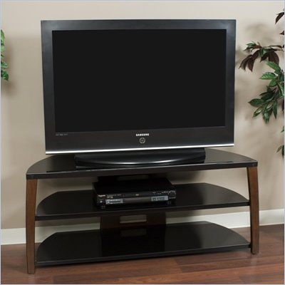 Tech-Craft Monaco Series 50 Inch Wide Plasma/LCD TV Stand in Walnut Finish 