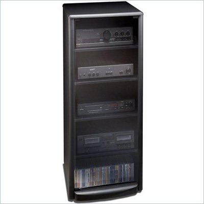 Tech Craft Black Audio Rack with Casters
