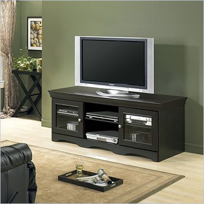 Tech-Craft Veneto 60&quot; Distressed Black Wood LCD/Plasma TV Stand