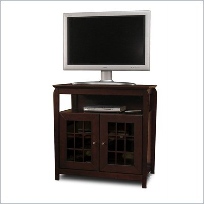 Tech-Craft Veneto Series Walnut 32&quot; Hi-Boy Wood LCD/Plasma TV Stand