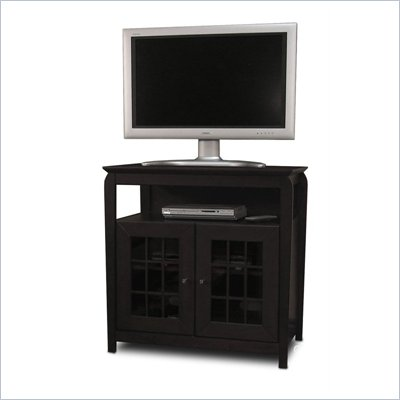 Tech-Craft Veneto Series Black 32&quot; Hi-Boy Wood LCD/Plasma TV Stand