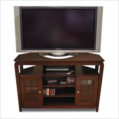 Tech-Craft Veneto Series Walnut 46&quot; Hi-Boy Wood LCD/Plasma TV Stand